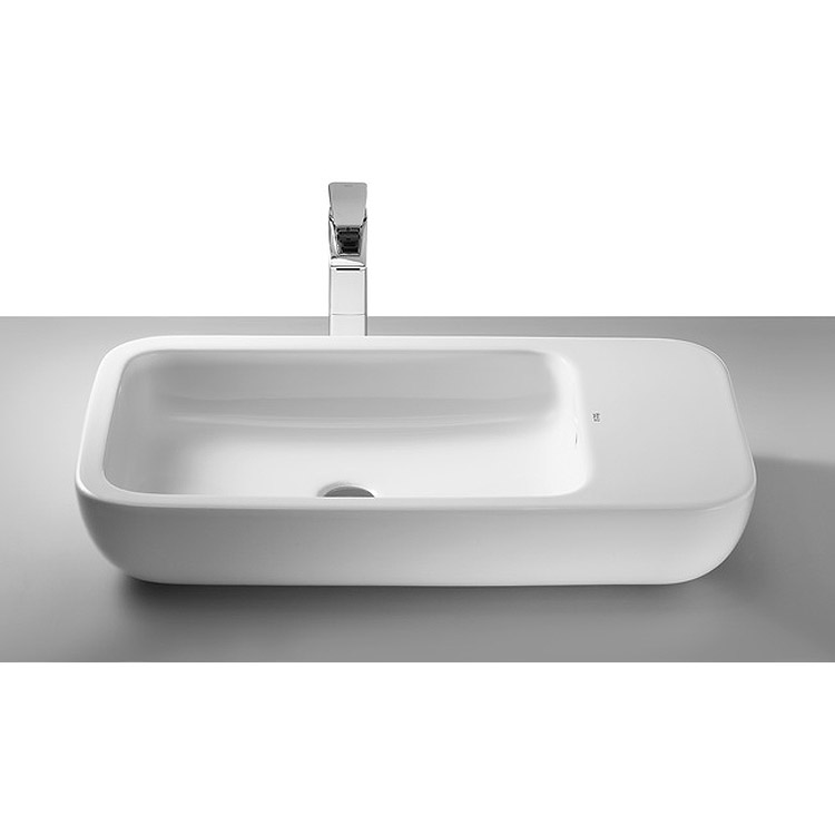 Roca Khroma 750 x 400mm Offset Countertop Basin - 327655000 Large Image