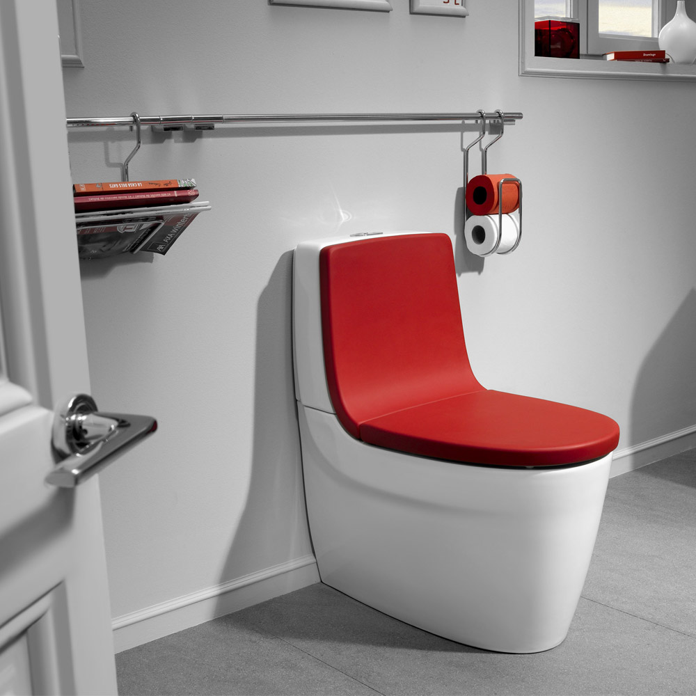 Roca Khroma BTW Close Coupled Toilet with Soft-Close Seat Standard Large Image
