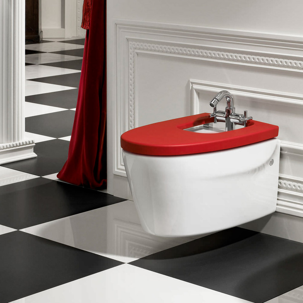 Roca Khroma Wall-hung Bidet with Soft Close Cover Profile Large Image