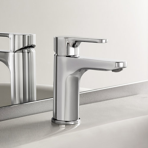 Roca L20 Chrome Basin mixer excluding waste - 5A3109C00 profile large image view 2