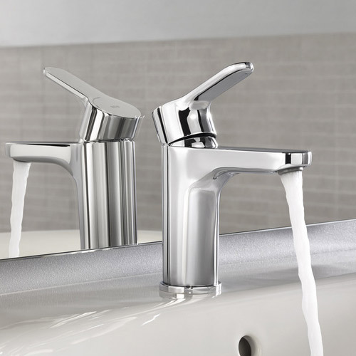 Roca L20 Chrome Basin mixer excluding waste - 5A3109C00 profile large image view 3