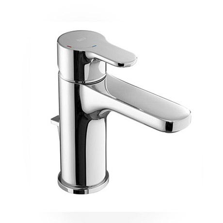 Roca L20 Chrome Basin Mixer Tap with Pop-Up Waste - 5A3I09C00