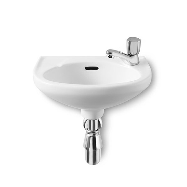 Roca Laura 350 x 225mm Wall-hung Basin 1TH R/H - 325316005 profile large image view 1