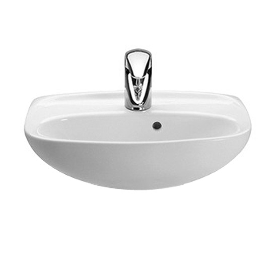 Roca Laura 450 x 340mm Wall-hung Basin profile large image view 1