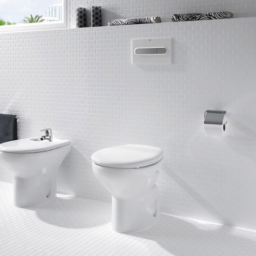 Roca Laura Back To Wall Pan with Soft-Close Seat Feature Large Image