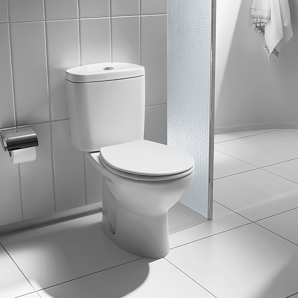Roca Laura Close Coupled Toilet with Soft-Close Seat profile large image view 3