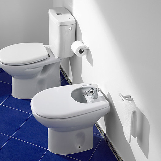 Roca Laura Floor-Standing Bidet with Cover Profile Large Image