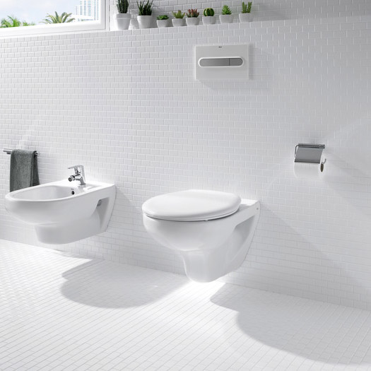 Roca Laura Wall Hung Pan with Soft-Close Seat profile large image view 3