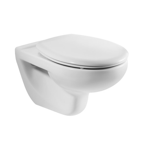Roca Laura Wall Hung Pan with Soft-Close Seat Large Image