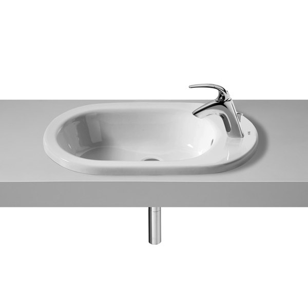Roca Meridian-N 600 x 340mm In Countertop 1TH Basin - 32724E000 profile large image view 1