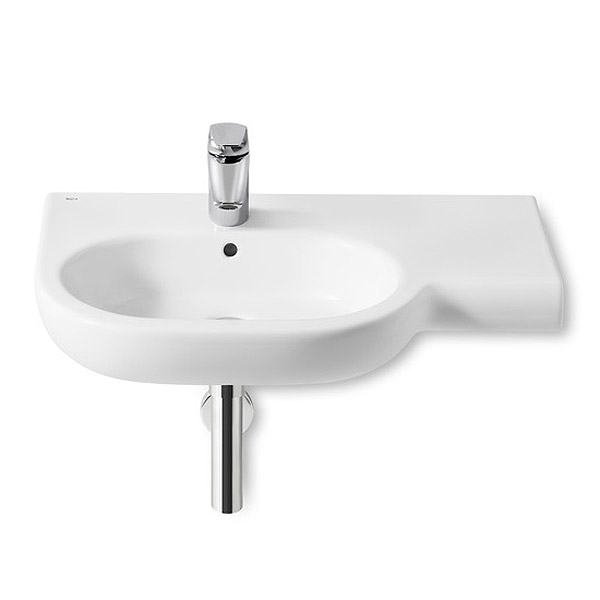 Roca Meridian-N 750 x 460mm Offset Wall-hung 1TH Basin Large Image