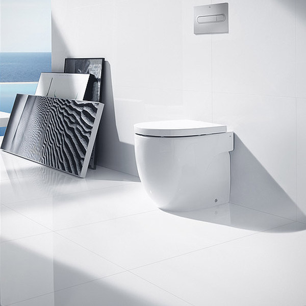 Roca - Meridian-N Back to Wall WC Pan and Soft Close Seat profile large image view 2