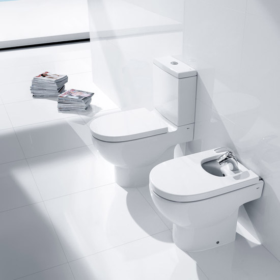 Roca - Meridian-N Close Coupled Toilet with Soft Close Seat profile large image view 2