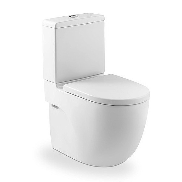 Roca Meridian-N Compact BTW Close Coupled Toilet with Soft-Close Seat Large Image