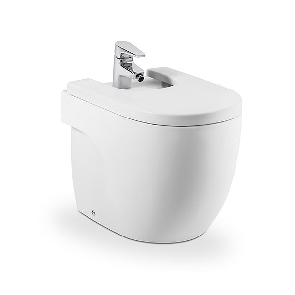 Roca Meridian-N Compact Floor-Standing BTW Bidet with Soft-Close Cover Large Image