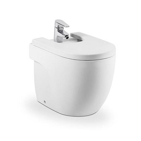 Roca Meridian-N Compact Floor-Standing BTW Bidet with Soft-Close Cover
