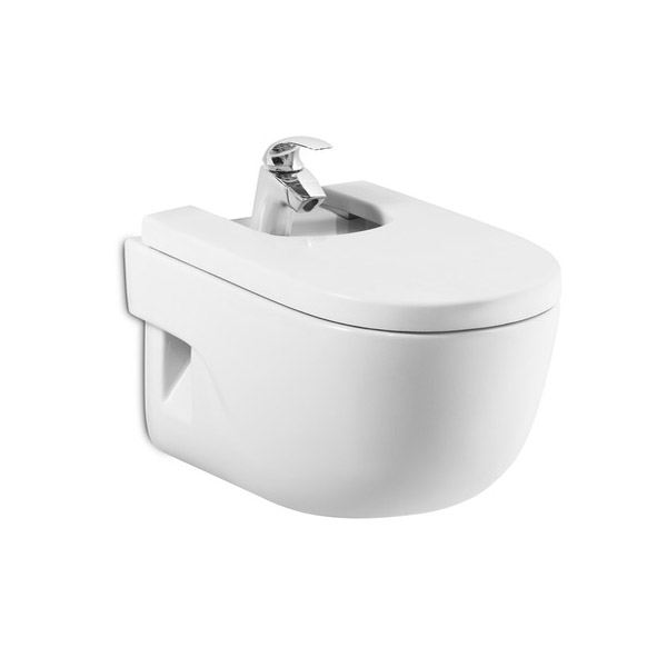 Roca Meridian-N Compact Wall-hung Bidet with Soft-Close Cover Large Image