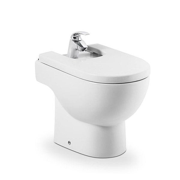 Roca Meridian-N Floor-Standing Bidet with Soft-Close Cover Large Image