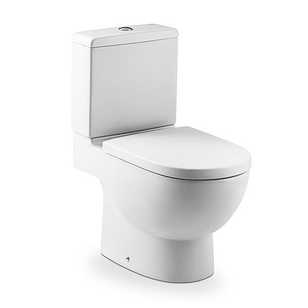Roca - Meridian-N Close Coupled Toilet with Soft Close Seat profile large image view 1