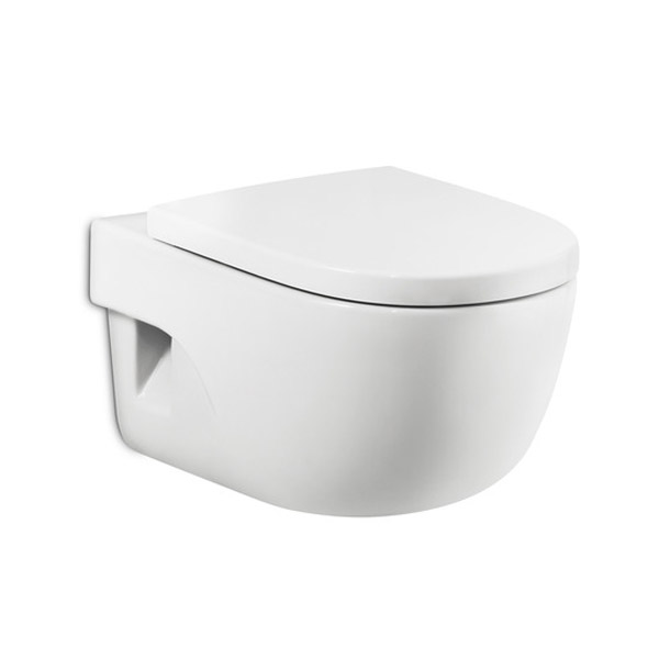 Roca Meridian-N Wall Hung Pan with Soft-Close Seat Large Image