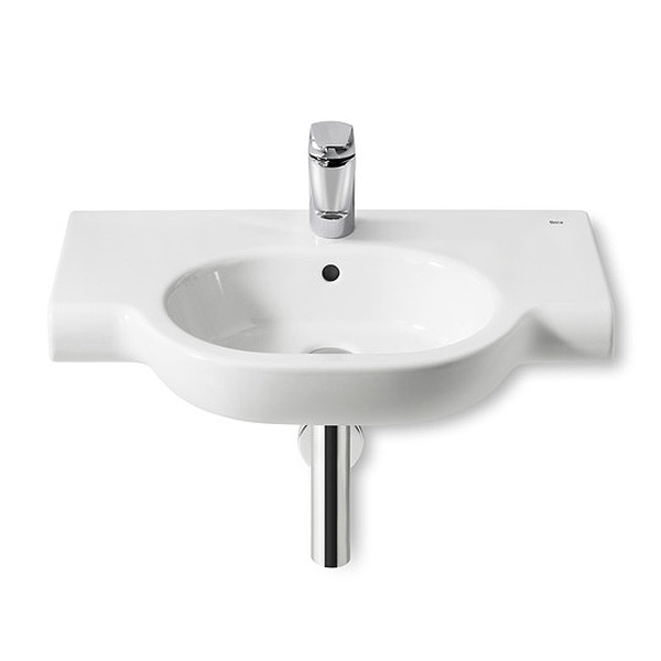 Roca Meridian-N Wall-hung 1TH Basin with Integrated shelf Large Image