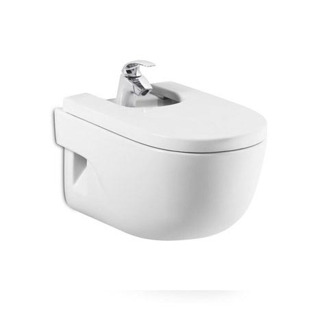 Roca Meridian-N Wall-hung Bidet with Soft-Close Cover