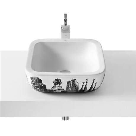 Roca - Urban Barcelona Countertop Basin - 400 x 400mm - White - 32765S00U