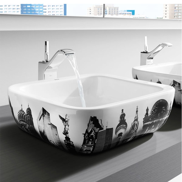 Roca - Urban Berlin Countertop Basin - 400 x 400mm - White - 32765G00U profile large image view 2