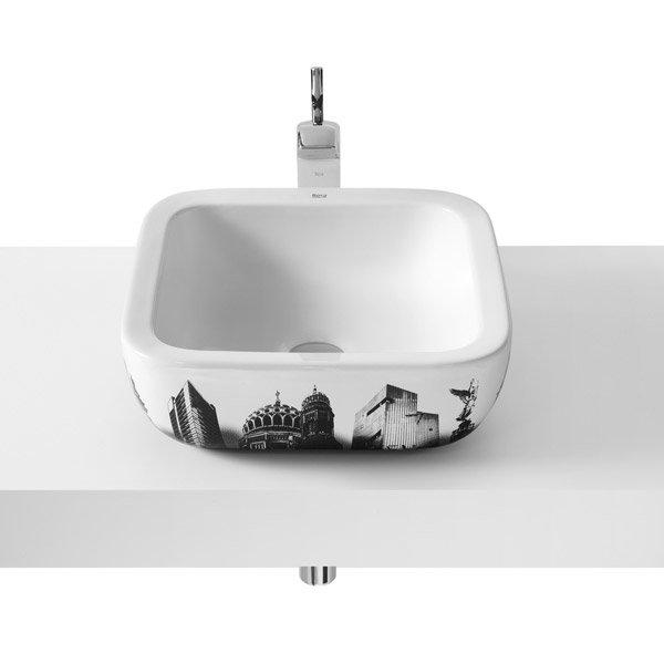 Roca - Urban Berlin Countertop Basin - 400 x 400mm - White - 32765G00U Large Image