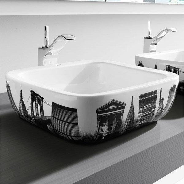 Roca - Urban New York Countertop Basin - 400 x 400mm - White - 32765U00U profile large image view 2