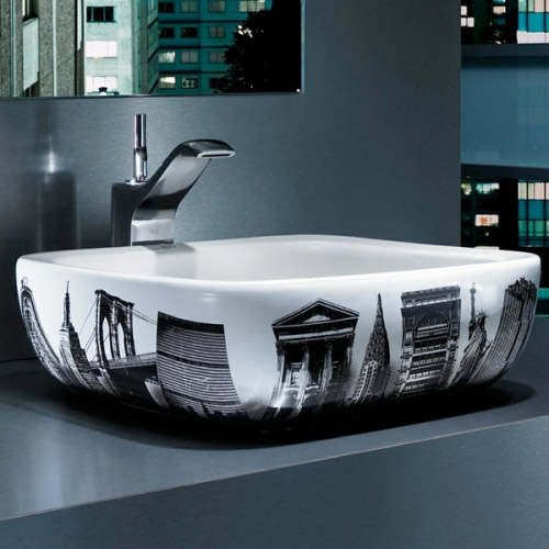 Roca - Urban New York Countertop Basin - 400 x 400mm - White - 32765U00U Feature Large Image