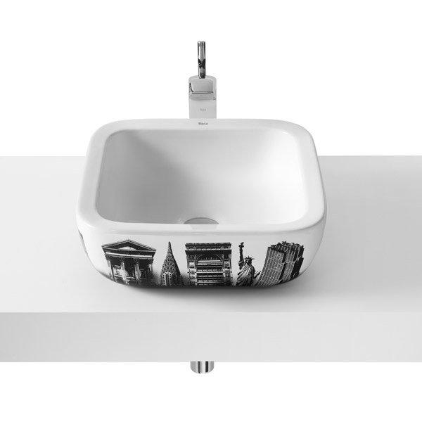 Roca - Urban New York Countertop Basin - 400 x 400mm - White - 32765U00U Large Image
