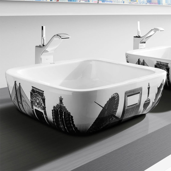 Roca - Urban Shanghai Countertop Basin - 400 x 400mm - White - 32765H00U Profile Large Image