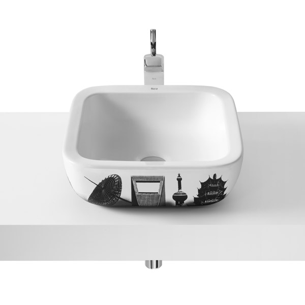 Roca - Urban Shanghai Countertop Basin - 400 x 400mm - White - 32765H00U Large Image