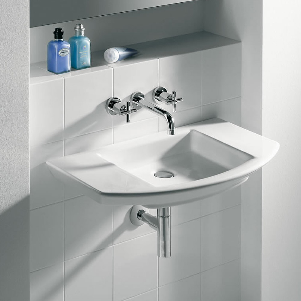 Roca Mohave Wall-hung Basin with Integrated shelf profile large image view 2