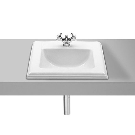Roca New Classical 580 x 475mm In countertop 1TH Basin - 327495000