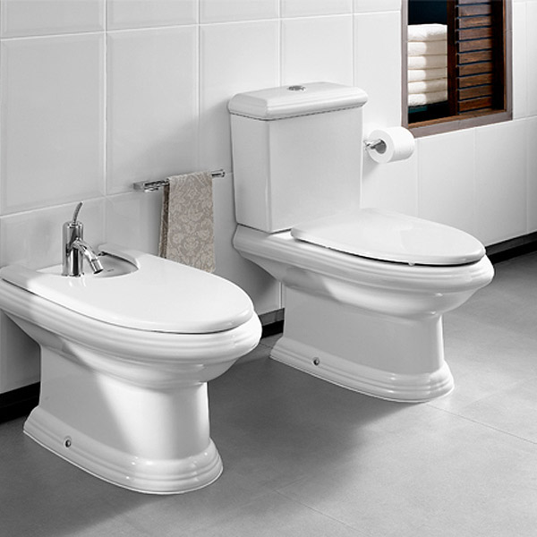 Roca New Classical Close Coupled Toilet with Soft-Closing Toilet Feature Large Image