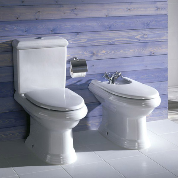 Roca New Classical Close Coupled Toilet with Soft-Closing Toilet Standard Large Image