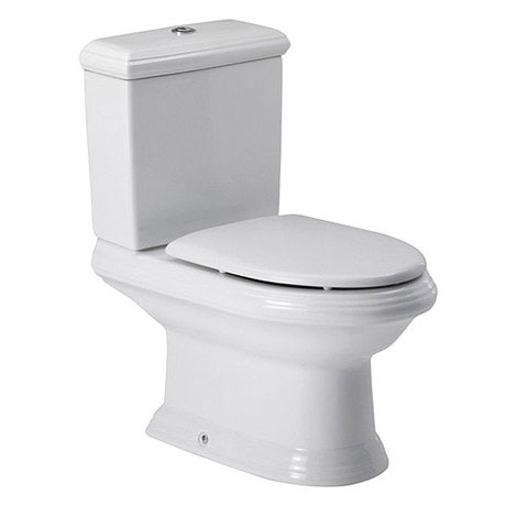 Roca New Classical Close Coupled Toilet with Soft-Closing Toilet