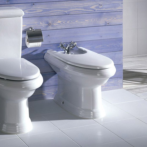 Roca New Classical Floor-standing Bidet with Cover profile large image view 3