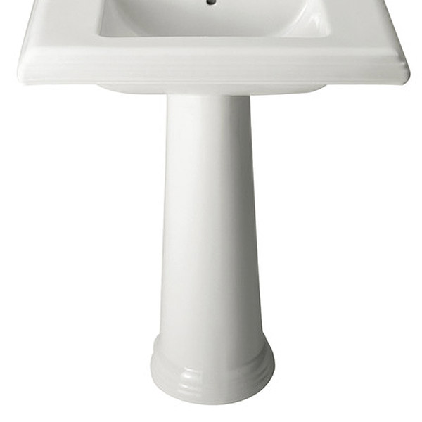 Roca New Classical Full Pedestal - 337490000 profile large image view 1