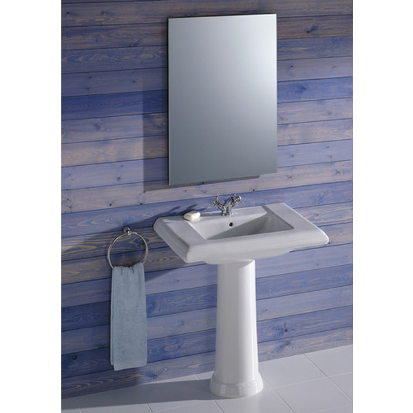 Roca New Classical Wall-hung or Vanity 1TH Basin profile large image view 4