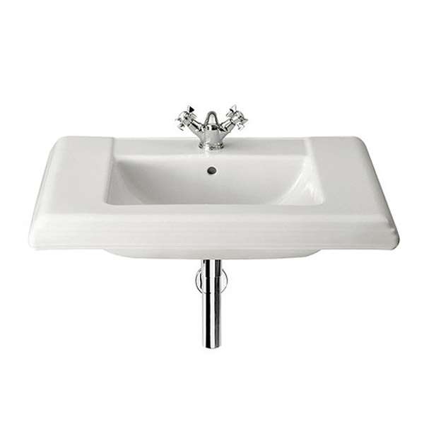 Roca New Classical Wall-hung or Vanity 1TH Basin profile large image view 1