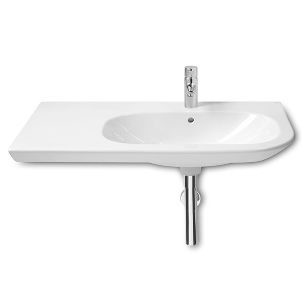 Roca Nexo 900 x 495mm Wall-hung Asymmetric Basin with Intergrated Shelf Large Image