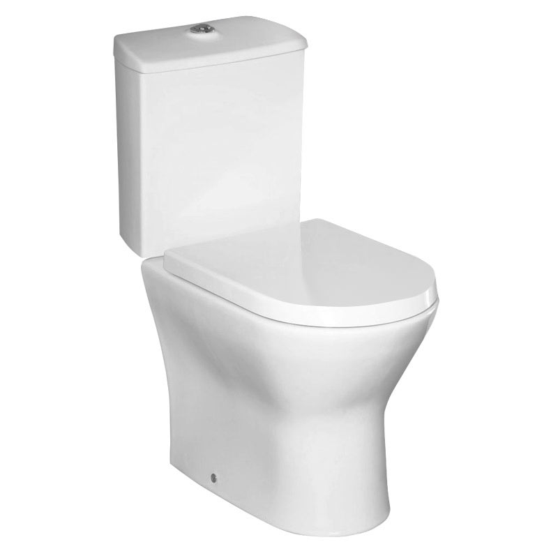 Roca Nexo Close Coupled Toilet with Soft-Close Seat profile large image view 1