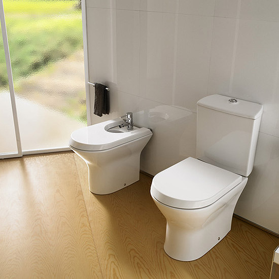 Roca Nexo Close Coupled Toilet with Soft-Close Seat profile large image view 2