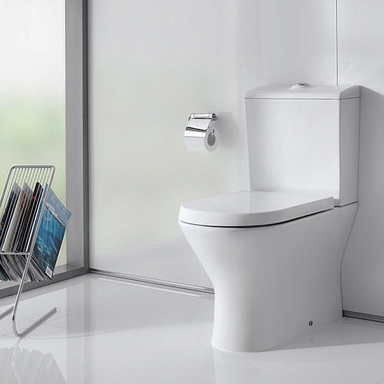 Roca Nexo Compact BTW Close Coupled Toilet with Soft-Close Seat Feature Large Image