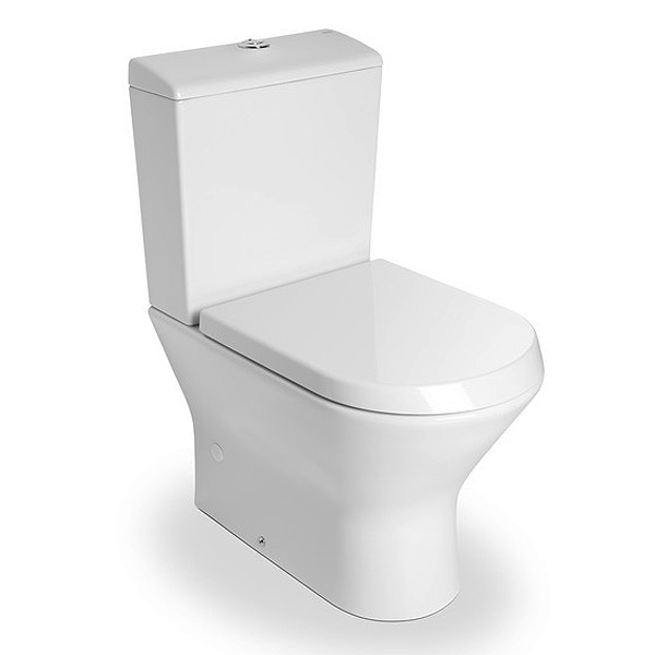 roca nexo compact btw close coupled toilet with soft close. Black Bedroom Furniture Sets. Home Design Ideas