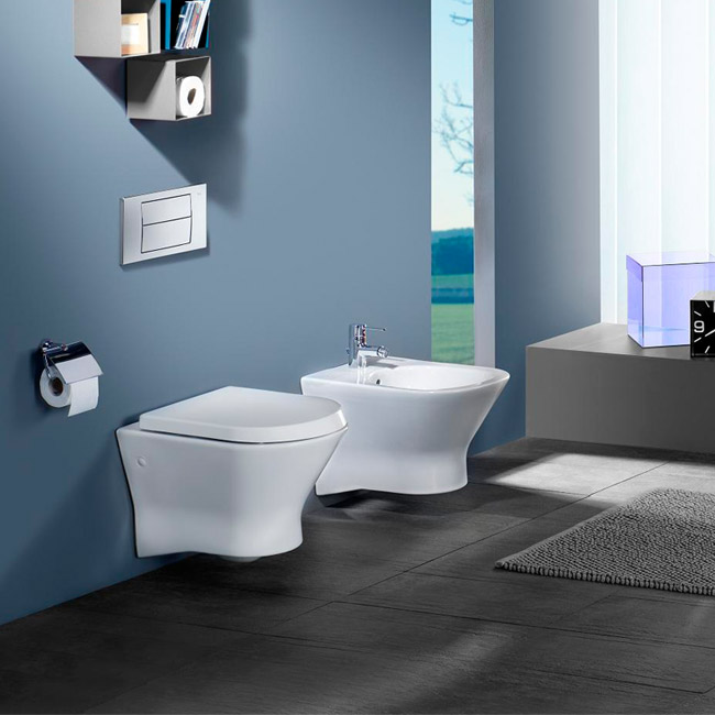Roca Nexo Wall Hung Pan and Soft-Close Seat profile large image view 3