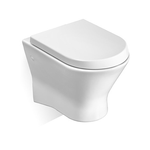 Roca Nexo Wall Hung Pan and Soft-Close Seat profile large image view 1